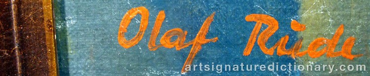 Forged signature of Olaf RUDE