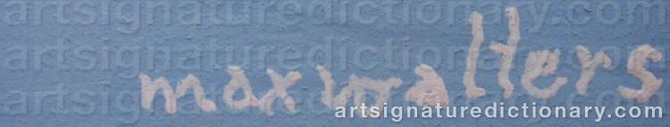 Signature by Max Walter 'Max Walters' SVANBERG