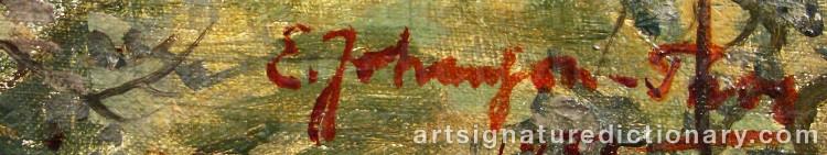 Signature by Emil 'E. J-Thor' JOHANSON-THOR