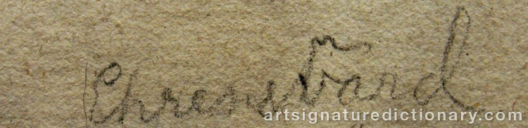 Signature by Carl August EHRENSVÄRD