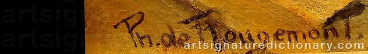 Signature by Philippe De ROUGEMONT