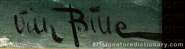 Signature by Vilhelm Victor BILLE