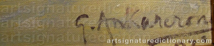 Signature by Gustaf ANKARCRONA