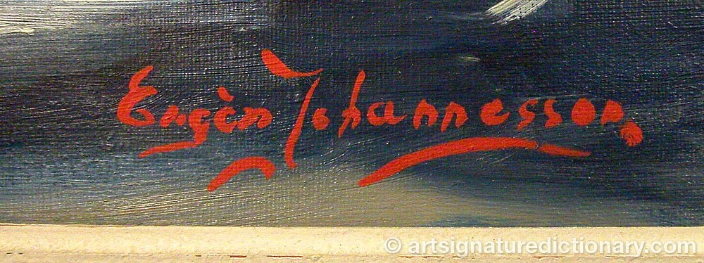 Signature by Eugèn JOHANNESSON