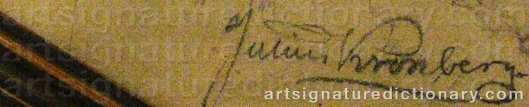 Signature by Julius KRONBERG