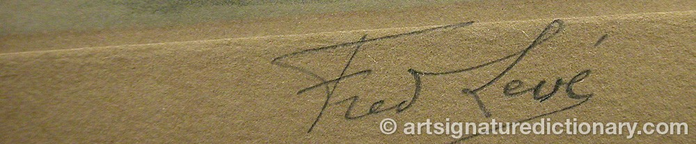 Signature by Frédéric Louis LEVE