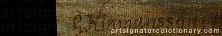 Signature by Lars Gustav KINMANSSON