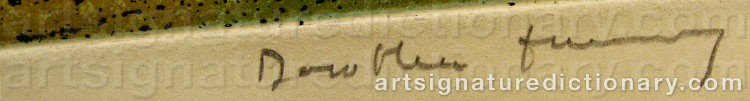 Signature by Dorothea TANNING