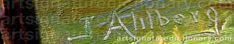 Signature by John AHLBERG
