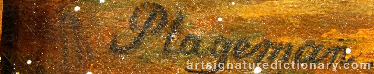 Signature by Carl Gustaf PLAGEMANN