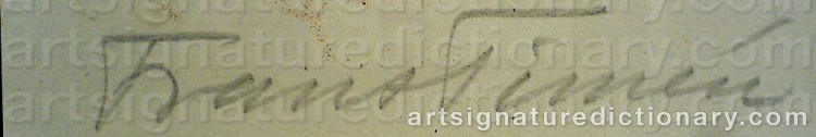 Signature by Frans TIMÉN