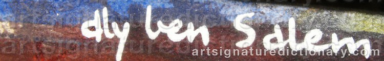 Signature by Aly Ben SALEM