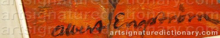 Signature by Albert ENGSTRÖM