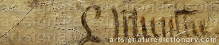 Signature by Ludwig MUNTHE