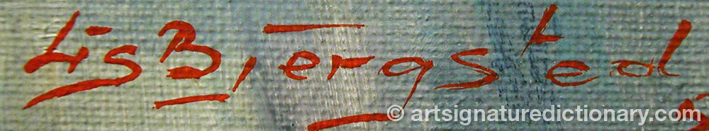 Signature by Lis BJERGSTEDT