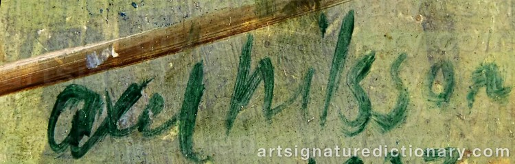 Signature by Axel NILSSON