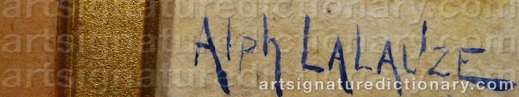 Signature by Alphonse LALAUZE