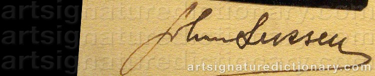 Signature by Johan LEKSELL