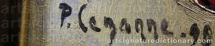 Forged signature of Paul CÉZANNE