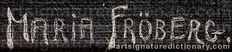 Signature by Maria FRÖBERG