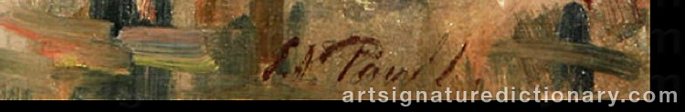 Signature by Elie Anatole PAVIL