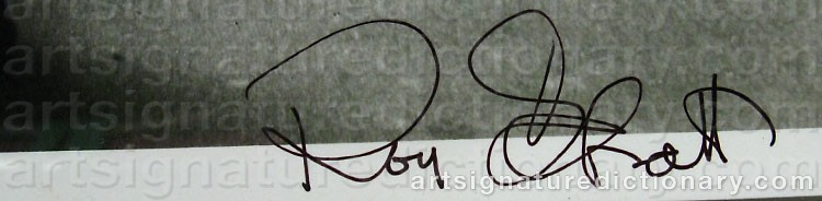Signature by Roy SCHATT
