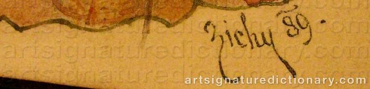 Signature by Mihaly Von ZICHY
